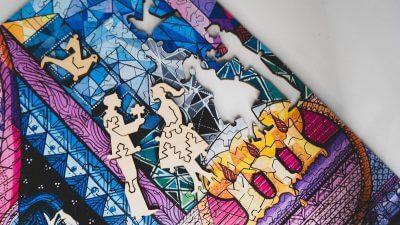 Ахматова возвращение. Мозаика из дерева
