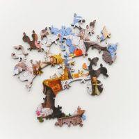 Мозаика из дерева Алиса в стране чудес. Решите головоломку вместе с кроликом, шляпочником и другими героями. Минск, доставка. Отличный подарок для друзей и родных