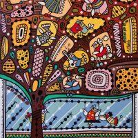 Из жизни птичек деревянная мозаика