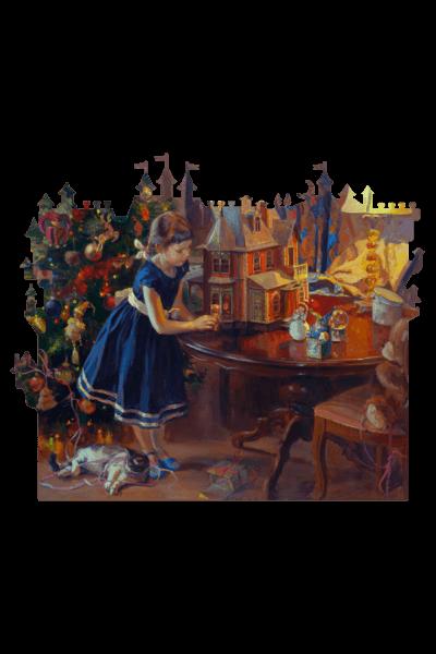 Кукольный домик, деревянный пазл. Найдите всех жителей. Развивающая игра. Экологичный материалы