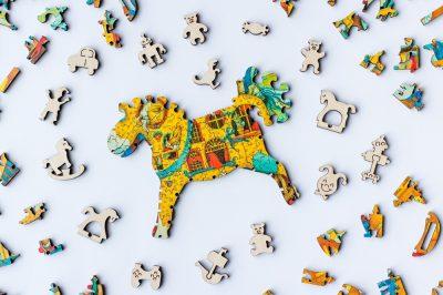 Лошадка. Деревянная мозаика в интернет-магазине Furor Decor