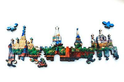 Московский кремль деревянный пазл