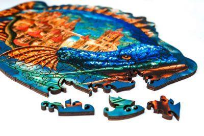 мозаика пазл из дерева обитаемая рыба минск