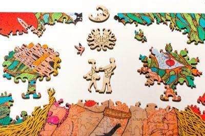 Послание мозаика из дерева