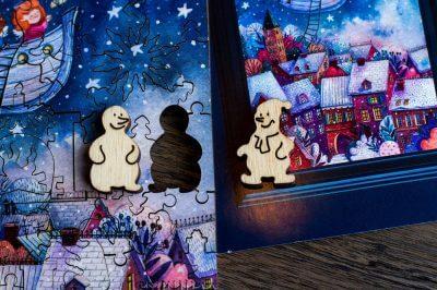 Рождественские истории. Самый милый пазл из дерева. Приятный подарок для близких и друзей. Дети не останутся равнодушными