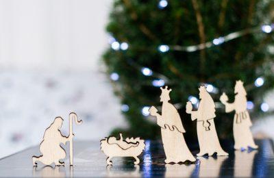 Рождественский англ. Пазл из дерева купить в минске в подарок