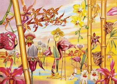 Деревянный пазл Davici (давичи) великое искусство света и тени мозаика из дерева