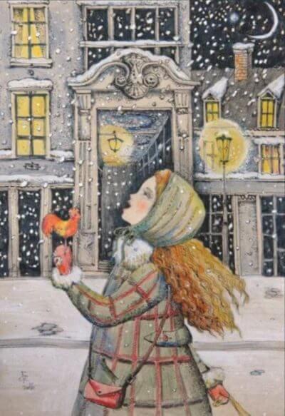 Вкусный снег. Деревянная мозаика в интернет-магазине Furor Decor