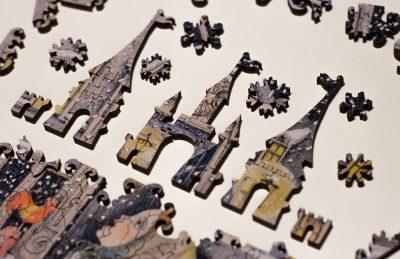 Вкусный снег. Деревянная мозаика в магазине Furor Decor