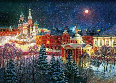 Волшебница зима. Мозаика из дерева минск