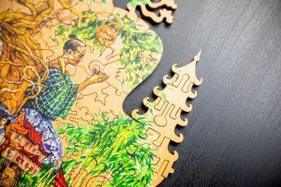 Пазл из дерева давичи япония
