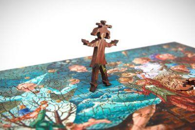 Жонглеры головоломка из дерева
