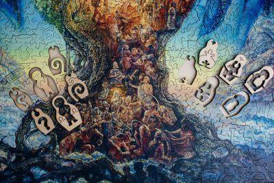 Деревянная мозаика дерево жизни миллениум давичи