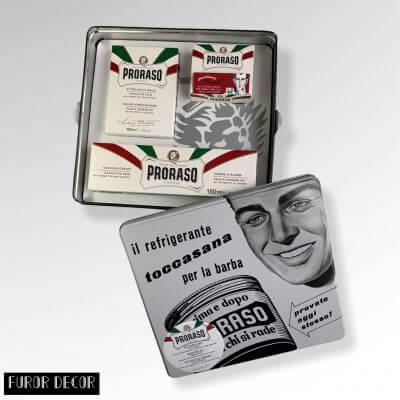 подарочный набор для бритья прорасо в металлической коробке (Италия)