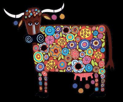 радужная корова DaVICI