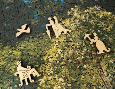 Дама в саду деревянная мозаика давичи (DaVICI)