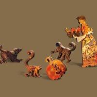 Фруктовая лавка деревянный пазл давичи мозаика из дерева DaVICI
