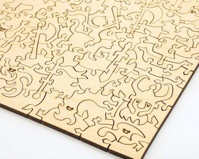 детский деревянный пазл давичи davici как создать своего дракона, мозаика из дерева, пазл из дерева, деревянная мозаика детская