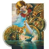 Деревянная мозаика DaVICI (давичи) сюрреализм часовщик