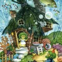 Болотная семейка. Детский, для детей, детям. Мозаика из дерева. Пазл из дерева. Деревянный пазл мозаика давичи DaVICI