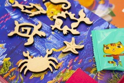 Коралловый замок. Детский, для детей, детям. Мозаика из дерева. Пазл из дерева. Деревянный пазл мозаика давичи DaVICI